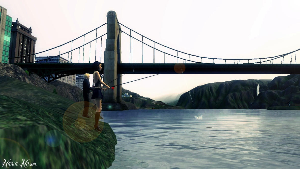 Sims 3 - Fishing Time! by Maria-Mason on DeviantArt