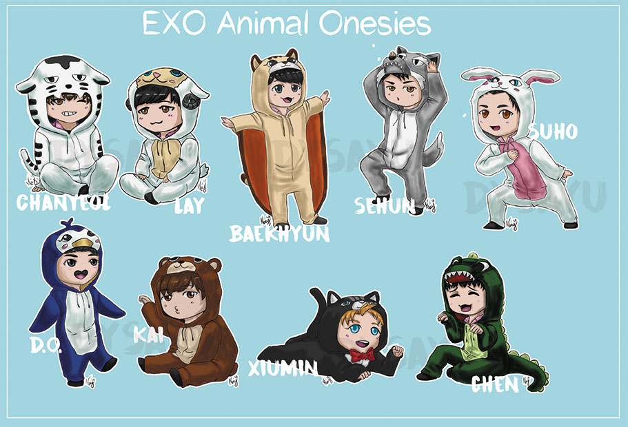 Exo Animal Costumes by Dysayu on DeviantArt