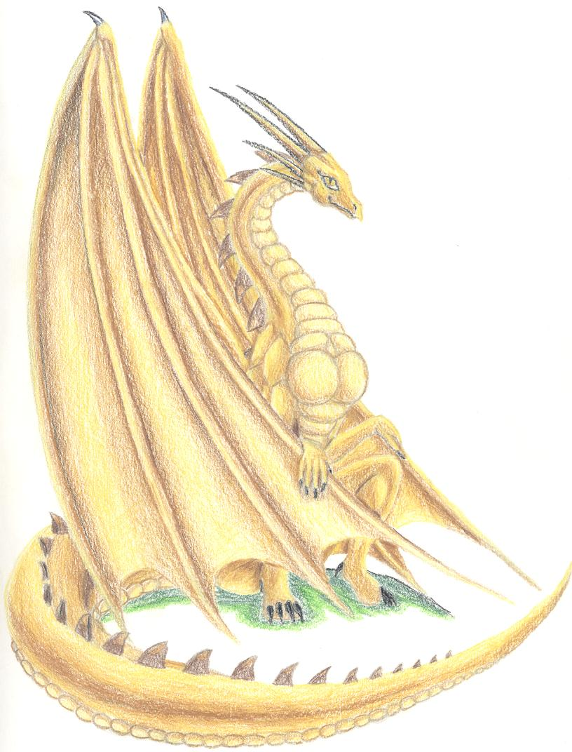 famale gold dragon