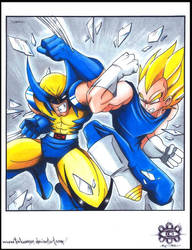 ::E.VS.W Wolverine VS Vegeta:: by Turboman