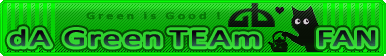 Green TEAm Fan Button