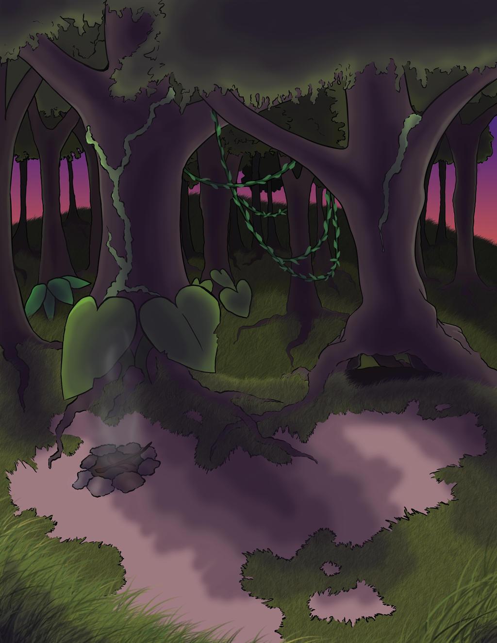Teardrop Rain Forest by shizukadraws14