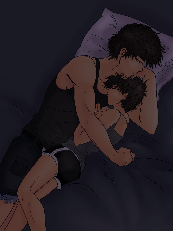 Three AM/Snuggle Time by shizukadraws14