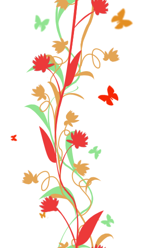 Flower And Butterfly Column Image By Viperseven On Deviantart