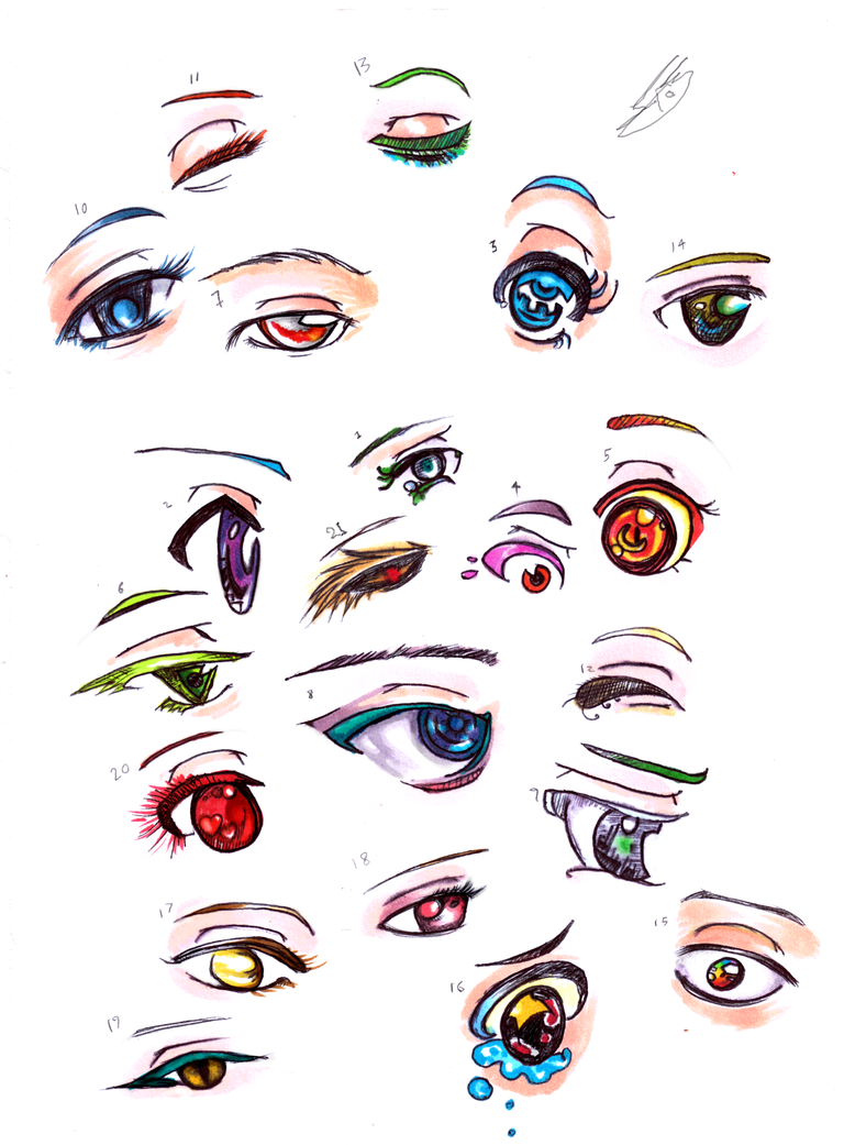how to draw eyes with copic markers
