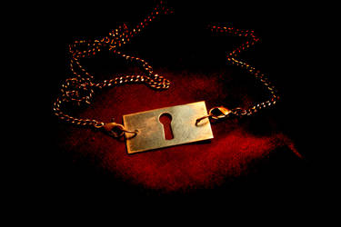 Antique Lock Face Necklace by turnerstokens