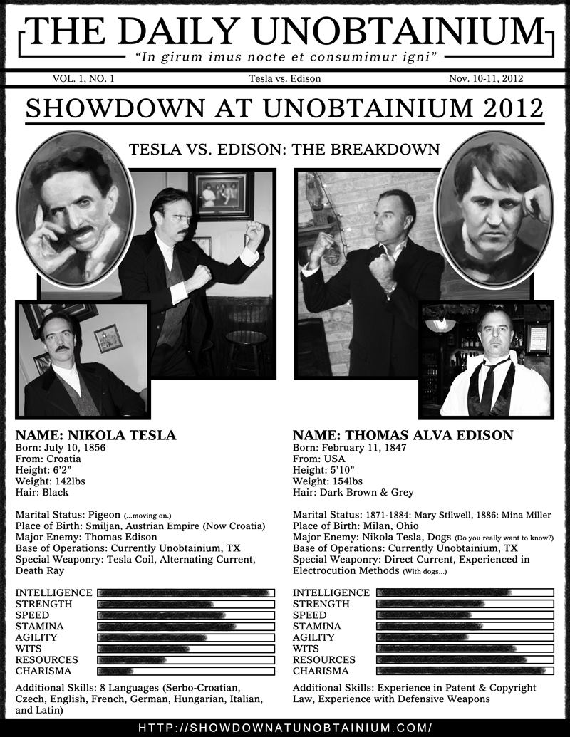 Showdown TESLA vs EDISON Stats by turnerstokens