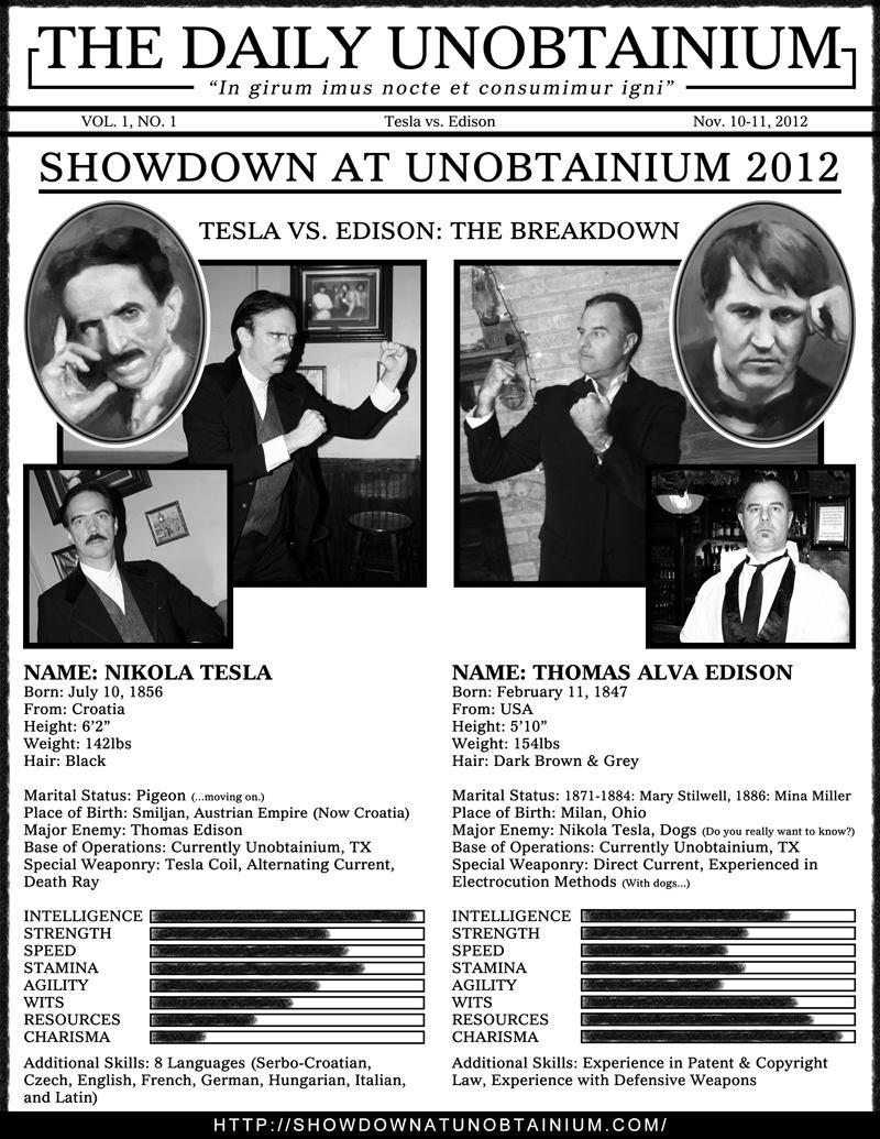 Showdown TESLA vs EDISON Stats by turnerstokens