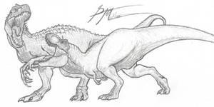 Tyrannosaurus Rex VS Indominus Rex