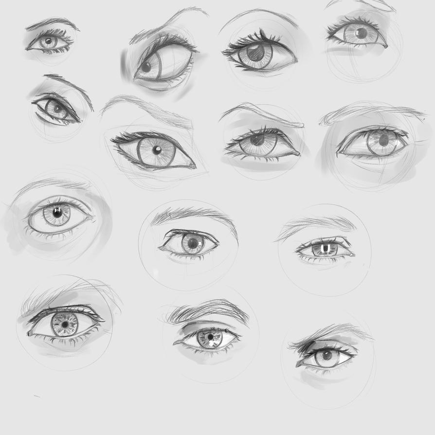 Eye Study 1 by Reortanath