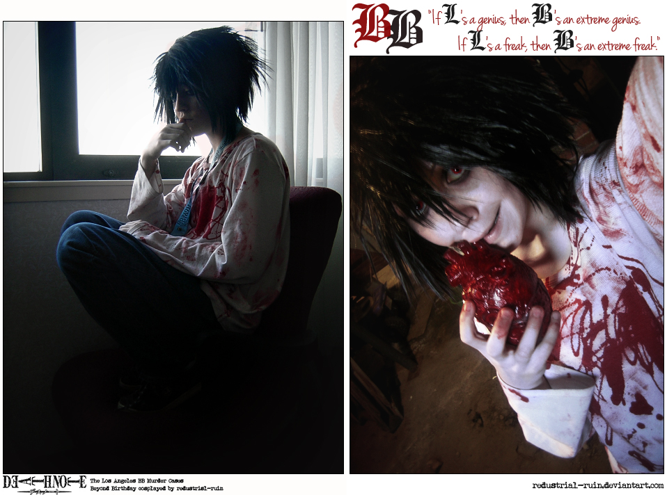 Death Note Cosplay: Beyond: Genius VS Freak by Redustrial-Ruin