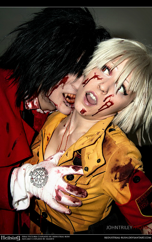 Hellsing Cosplay: Alucard and Seras: Taste You by Redustrial-Ruin