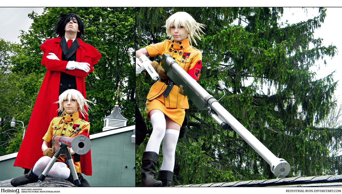 Hellsing Cosplay: Alucard x Seras: My Third Eye by Redustrial-Ruin