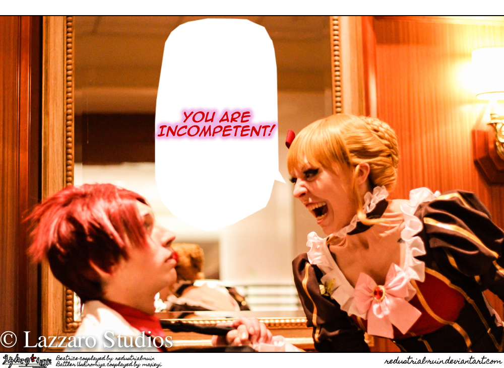 Umineko Cosplay: AB2K14: YOU ARE INCOMPETENT! by Redustrial-Ruin