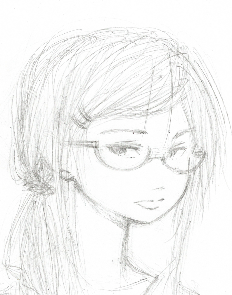 Glasses Girl by TomaHarrisaw
