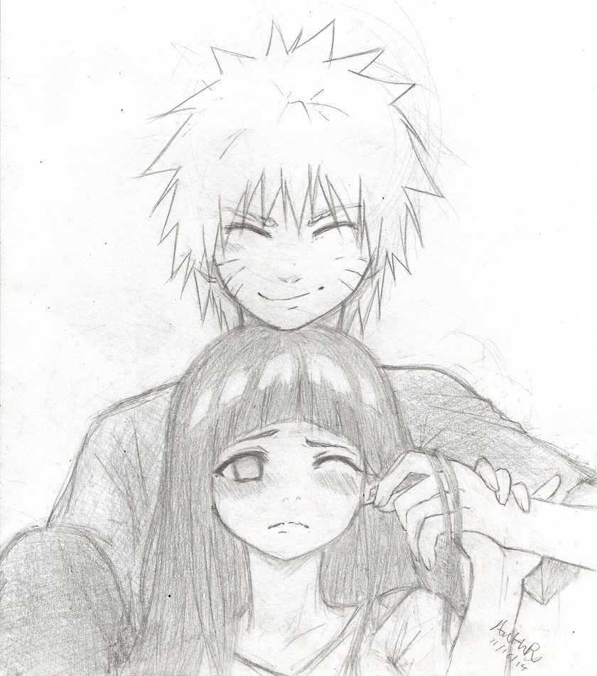 Naruto and Hinata by TomaHarrisaw