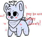 pay-to-use puppy lineart
