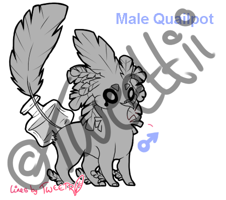 Male Quailpot Lineart *PAY TO USE* REDUCED PRICE!!