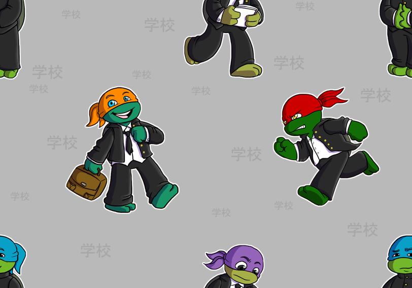 Teenage Mutant Ninja Turtles Nickelodeon 3 Tile Hot