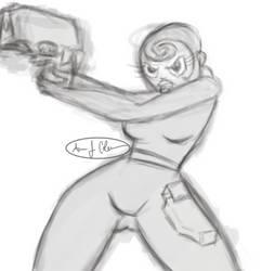 Agent Honeydew sketch by ajcink