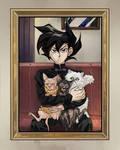 Family Portrait, Cat Dad AU Edition by garuye