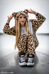 Leopard Kigurumi is so KAWAII