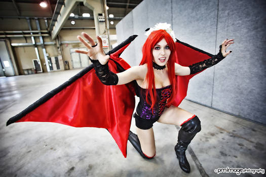 Succubus cosplay from Castlevania Sotn