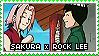 Stamp: Sakura x Rock Lee by sirbartonslady