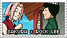 Stamp: Sakura x Rock Lee by sirbartonslady