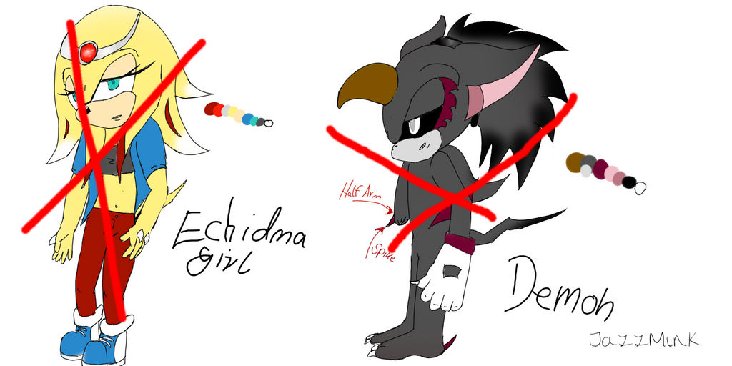 :Sonic: Adoptables Echidna and Demon