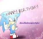 Classic Sonic Says Happy Birthday
