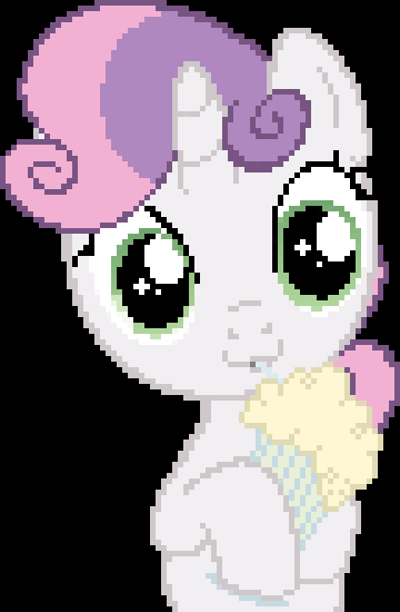 Sweetie Belle and her Milkshake - Pixelated (Gift) by Coltboy