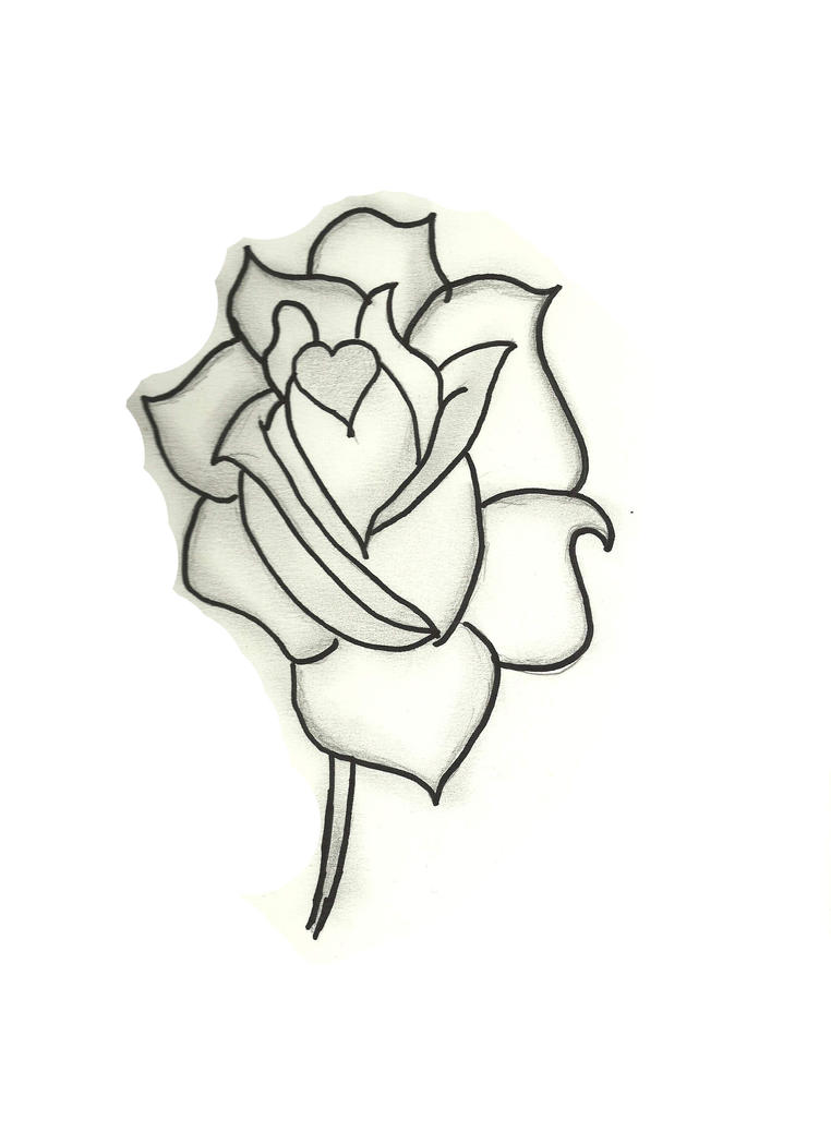 Hand drawn rose by starshorizon on deviantart for Hand holding a rose drawing