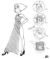 Pearl and The Dress by BrokenSpaghetti