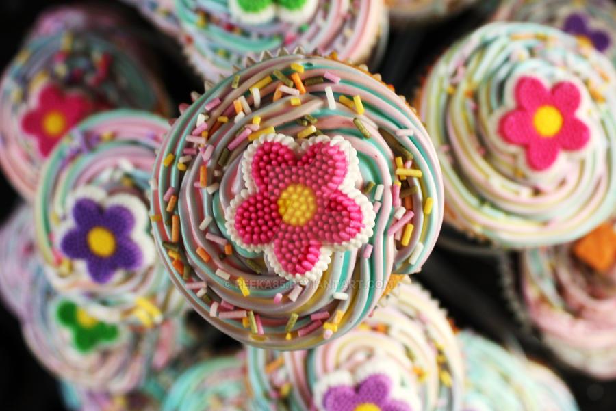 Spring Rainbow Cupcakes 2 by peeka85