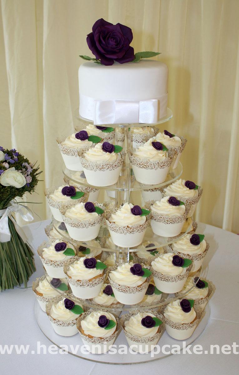 Rose Wedding Cupcake Tower by peeka85