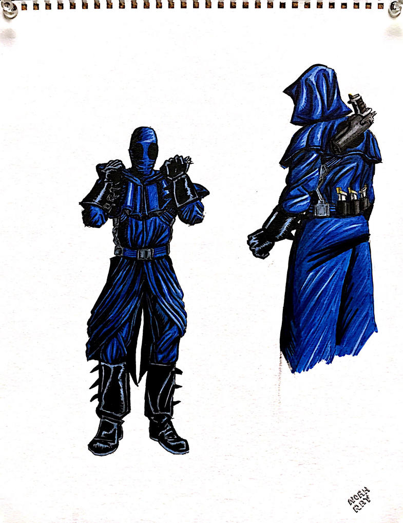 The Blue Monk by dumbginge