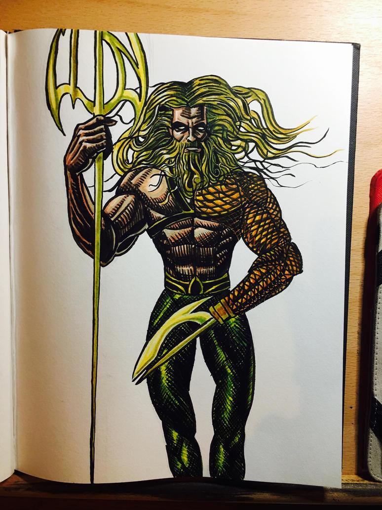 Aquaman Sketch by dumbginge