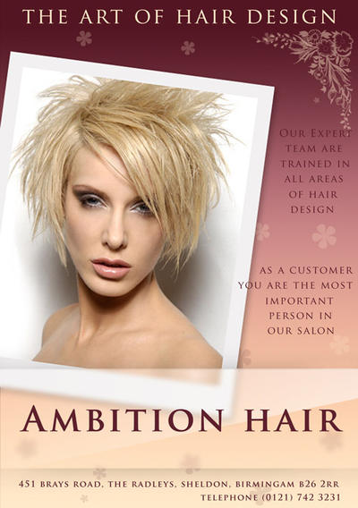 Ambition Hair flyer