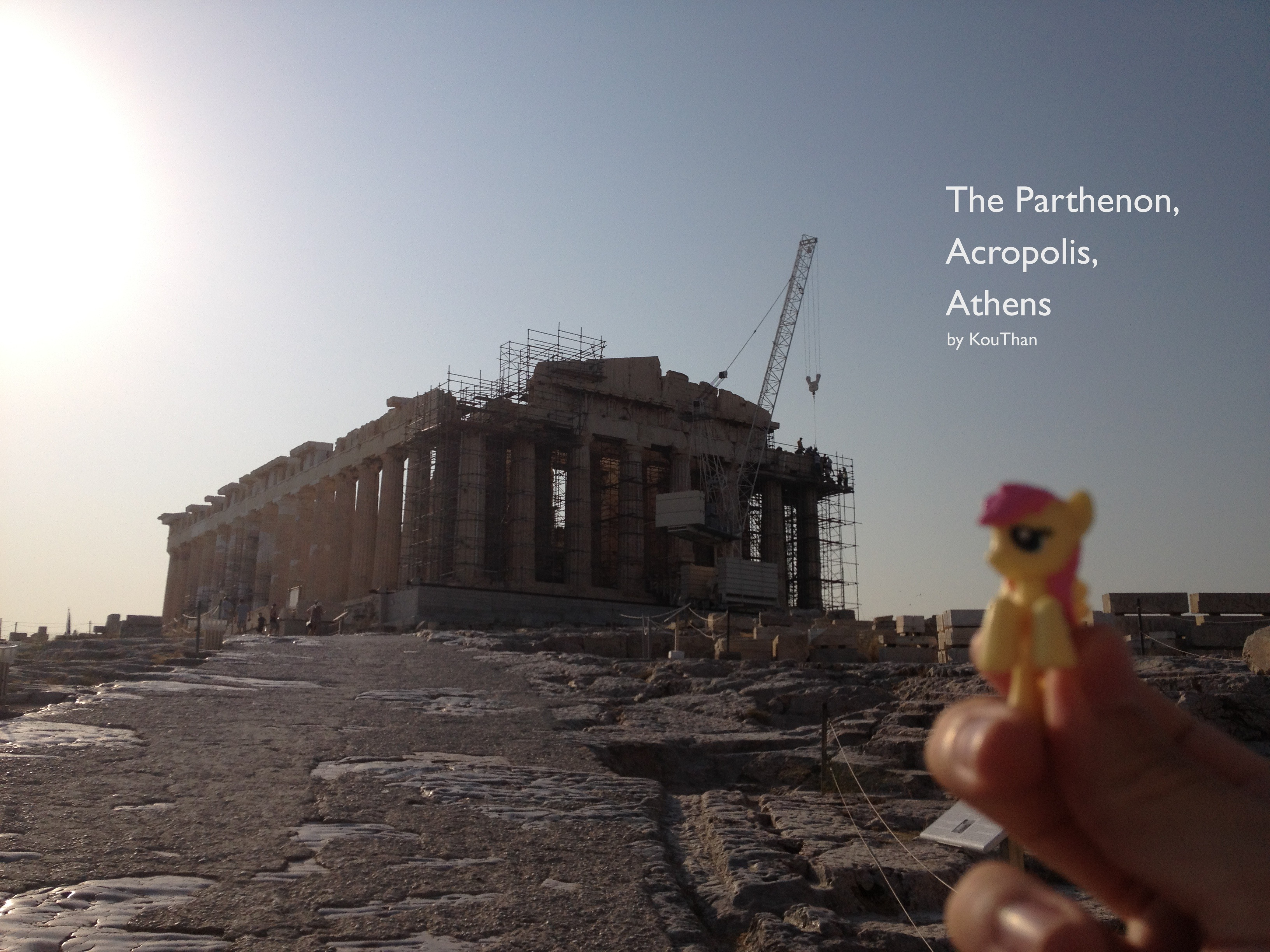 The parthenon in the morning