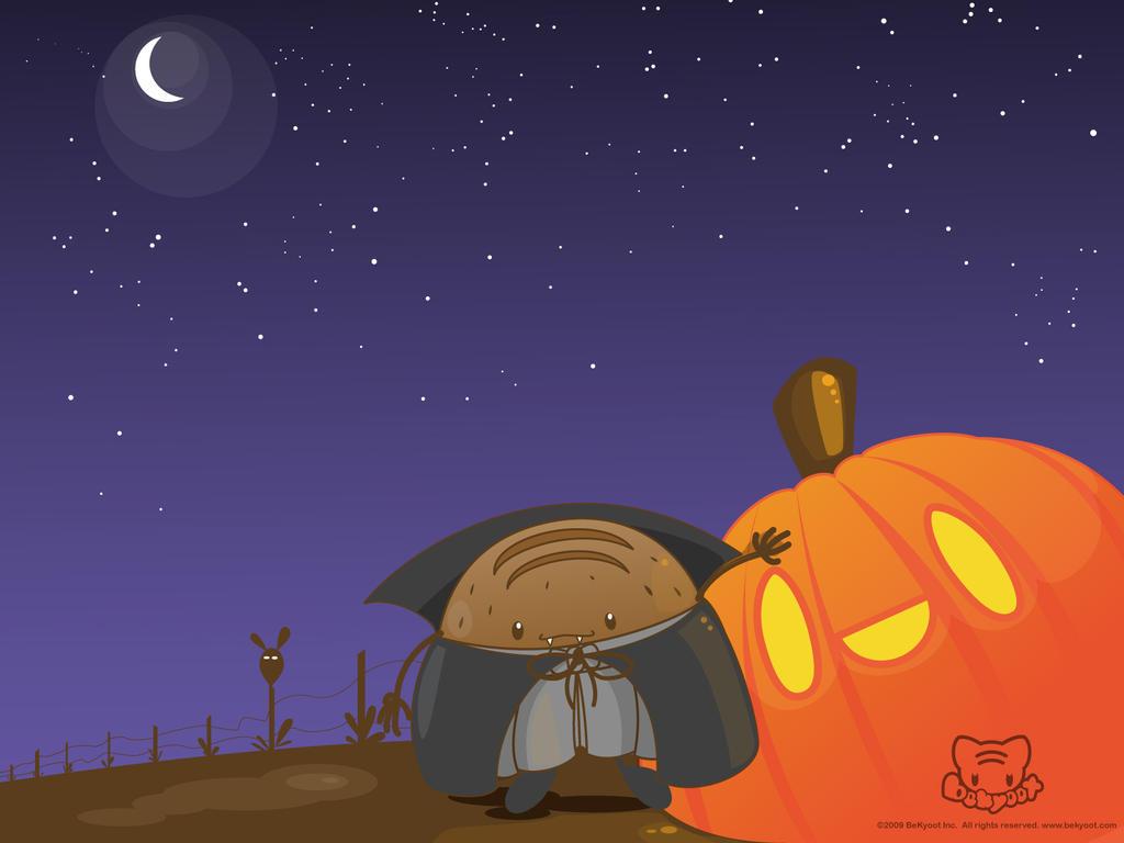 Vampu Rye Halloween Wallpaper by lafhaha