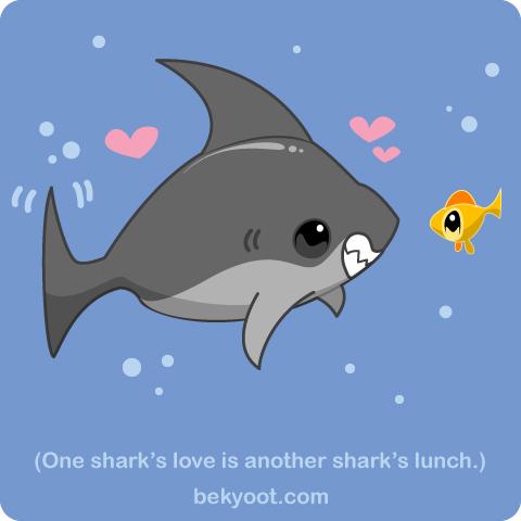 One Shark's Love by lafhaha