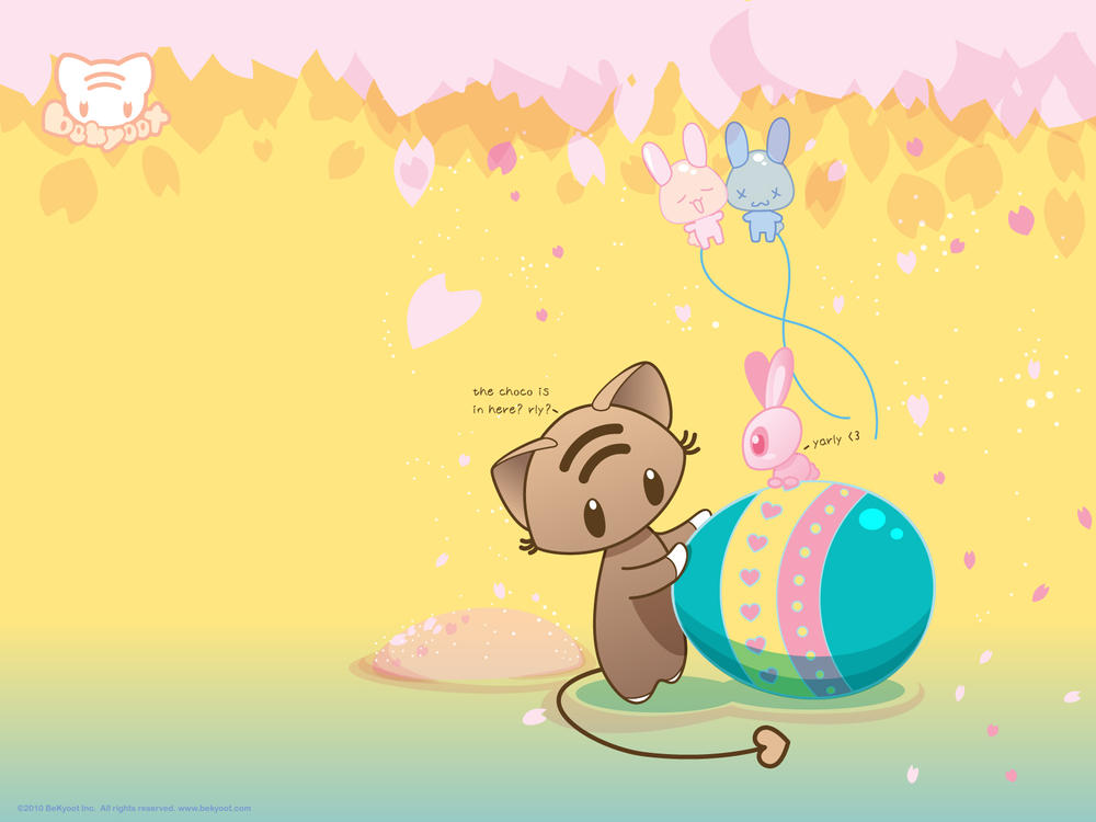 Mo and the Easter Bunny Wall by lafhaha