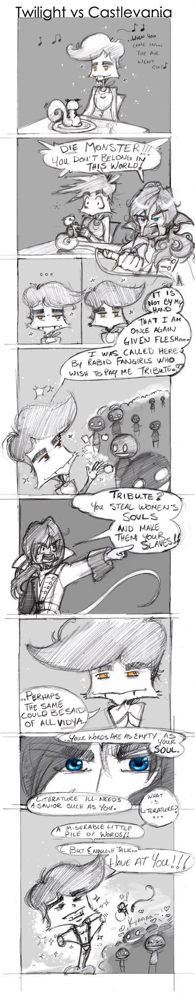 Twilight vs Castlevania by lafhaha