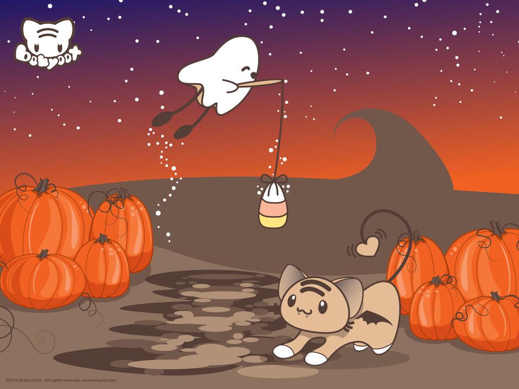 Halloween Fishin' Wallpaper by lafhaha