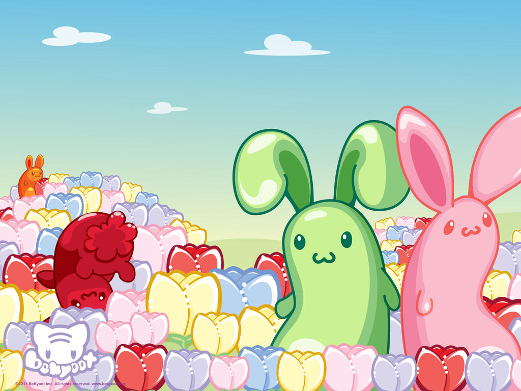 Jelly Bunny Flowers by lafhaha