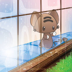 Watching the Rain by lafhaha