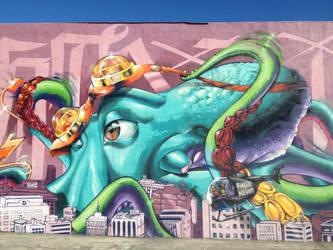 Miami Octopus by estria