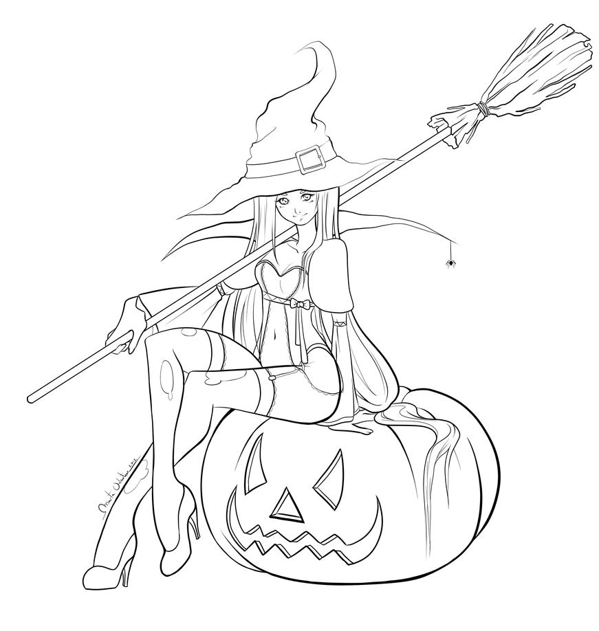 Line Art Halloween : Halloween lineart by martavalentin on deviantart