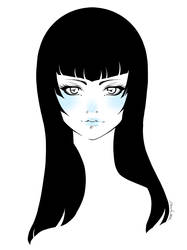 Blue Girl by MartaValentin